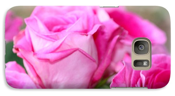 Galaxy Case featuring the photograph Welcome In Pink by Cathy Dee Janes
