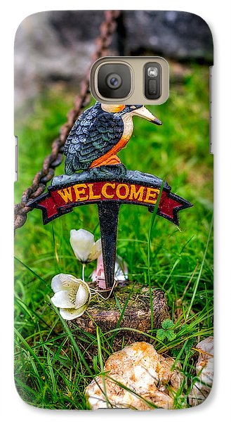Kingfisher Galaxy S7 Case - Welcome Sign by Adrian Evans