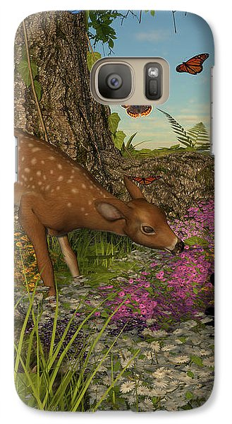 Galaxy Case featuring the digital art Welcome Spring by Methune Hively