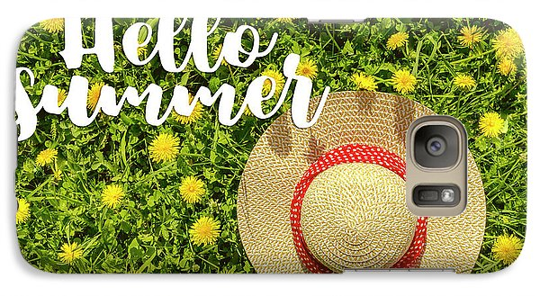 Galaxy Case featuring the photograph Welcome Summer by Teri Virbickis