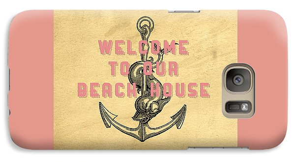 Galaxy Case featuring the digital art Welcome To Our Beach House by Edward Fielding