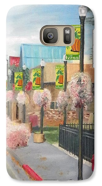 Galaxy Case featuring the painting Welcome To Vernal by Sherril Porter