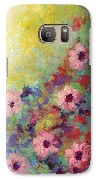 Galaxy Case featuring the painting Welcoming Spring by Suzzanna Frank