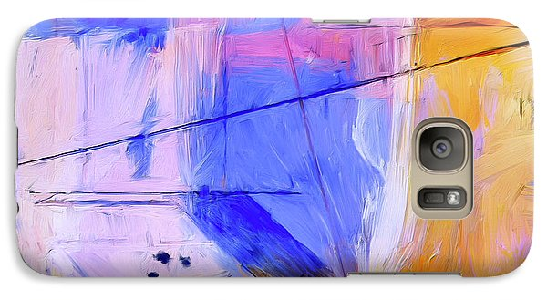 Galaxy Case featuring the painting Welder by Dominic Piperata