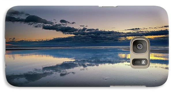 Galaxy Case featuring the photograph Wells Beach Reflections by Rick Berk