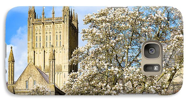 Galaxy Case featuring the photograph Wells Cathedral And Spring Blossom by Colin Rayner