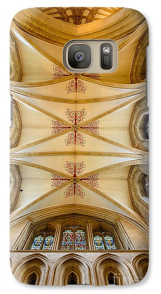 Galaxy Case featuring the photograph Wells Cathedral Ceiling by Colin Rayner