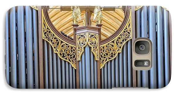Galaxy Case featuring the photograph Wells Cathedral Organ by Colin Rayner