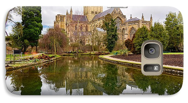Galaxy Case featuring the photograph Wells Cathedral by Colin Rayner