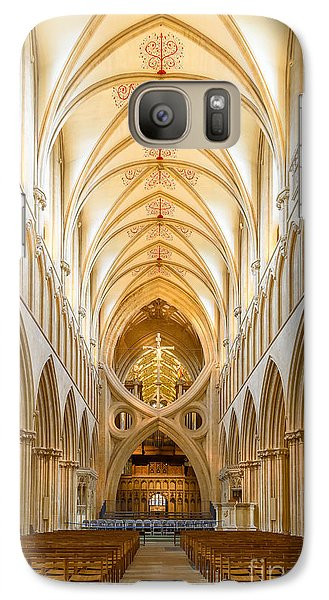 Galaxy Case featuring the photograph Wells Cathedral Nave by Colin Rayner