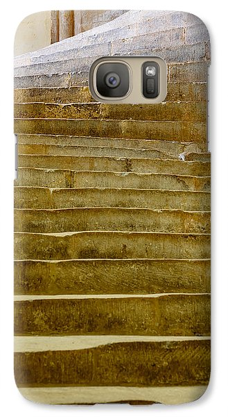 Galaxy Case featuring the photograph Wells Cathedral Steps by Colin Rayner