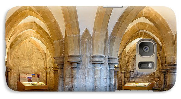 Galaxy Case featuring the photograph Wells Cathedral Undercroft by Colin Rayner