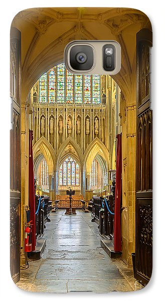 Galaxy Case featuring the photograph Wellscathedral, The Quire by Colin Rayner