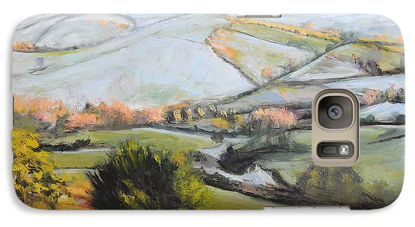 Galaxy Case featuring the painting Welsh Landscape In Winter by Harry Robertson