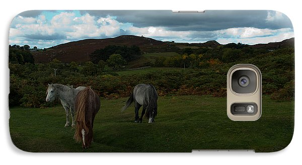 Galaxy Case featuring the photograph Welsh Mountain Pony's  by Lynn Hughes