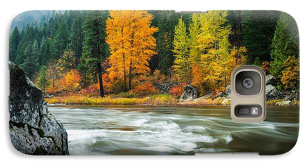 Galaxy Case featuring the photograph Wenatchee Riverside by Dan Mihai