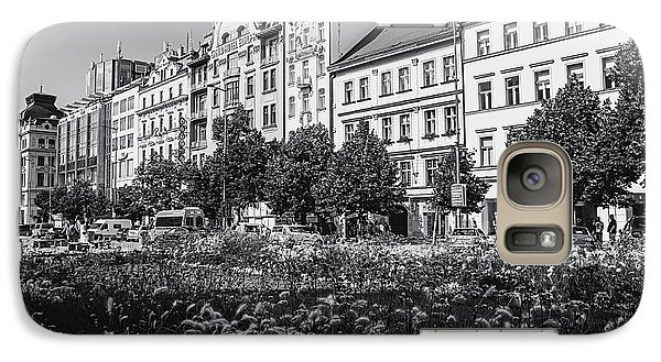 Galaxy Case featuring the photograph Wenceslas Square In Prague by Jenny Rainbow