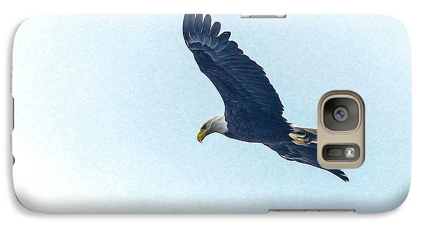 Galaxy Case featuring the photograph West Point American Eagle. by Terry Cosgrave