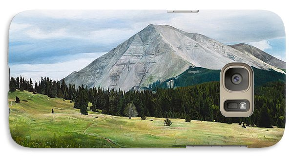 Galaxy Case featuring the painting West Spanish Peak In Summer by Joshua Martin