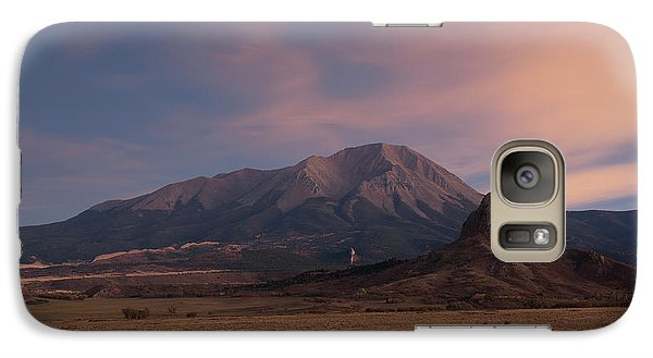 Galaxy Case featuring the photograph West Spanish Peak Sunset by Aaron Spong
