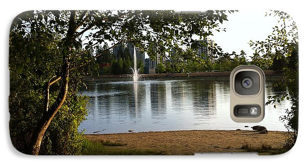 Galaxy Case featuring the painting West View Of Lafarge Lake by Rod Jellison