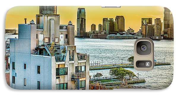 Galaxy Case featuring the photograph West Village To Jersey City Sunset by Chris Lord