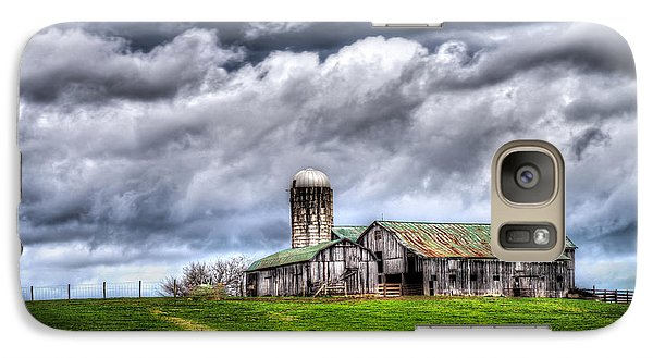 Galaxy Case featuring the photograph West Virginia Barn by Steve Zimic