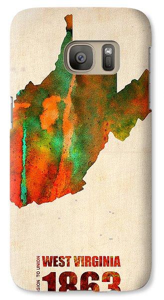 West Virginia Watercolor Map Galaxy Case by Naxart Studio