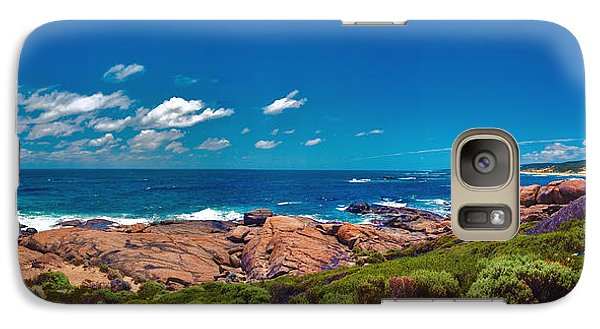 Galaxy Case featuring the photograph Western Australia Beach Panorama Margaret River by David Zanzinger