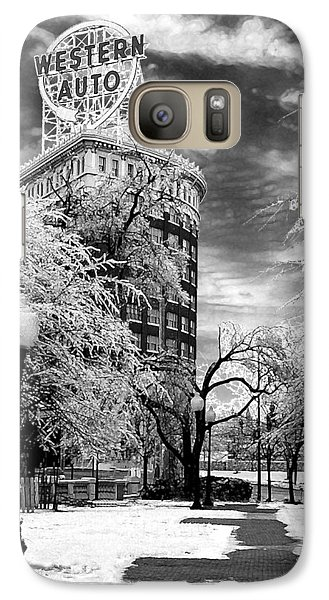 Galaxy Case featuring the photograph Western Auto In Winter by Steve Karol