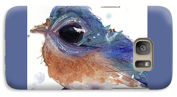 Galaxy Case featuring the painting Western Bluebird by Dawn Derman
