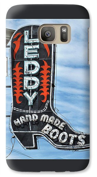 Galaxy Case featuring the photograph Western Boot Sign by David and Carol Kelly