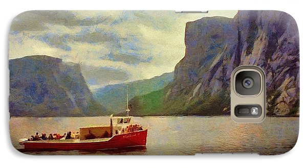 Galaxy Case featuring the painting Western Brook Pond by Jeff Kolker