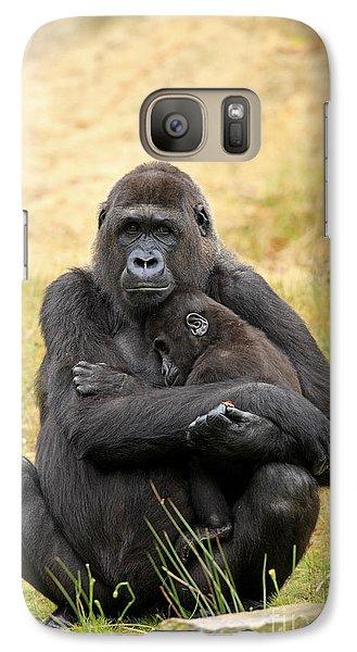 Western Gorilla And Young Galaxy S7 Case