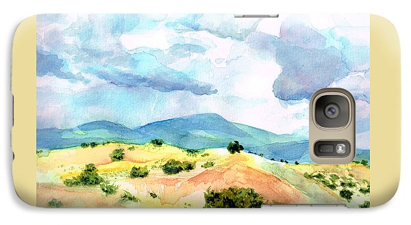 Galaxy Case featuring the painting Western Landscape by Andrew Gillette