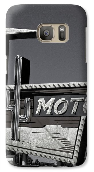 Galaxy Case featuring the photograph Western Motel In Black And White by Matthew Bamberg