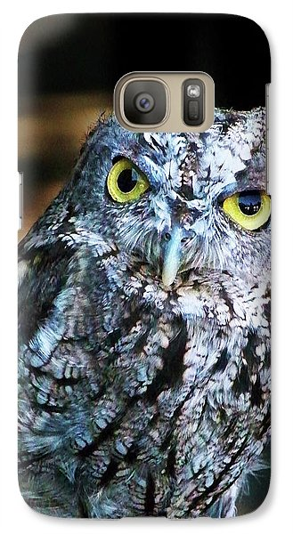 Galaxy Case featuring the photograph Western Screech Owl by Anthony Jones
