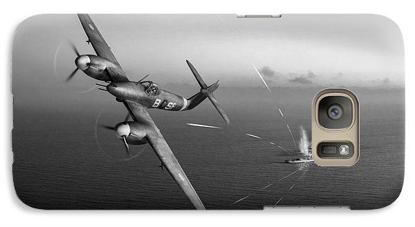 Galaxy Case featuring the photograph Westland Whirlwind Attacking E-boats Black And White Version by Gary Eason