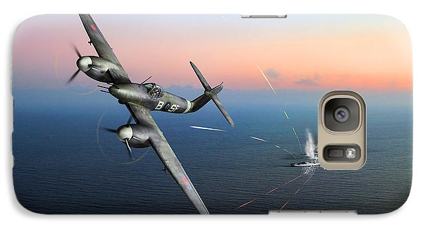 Galaxy Case featuring the photograph Westland Whirlwind Attacking E-boats by Gary Eason