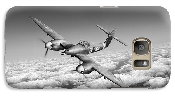 Galaxy Case featuring the photograph Westland Whirlwind Portrait Black And White Version by Gary Eason