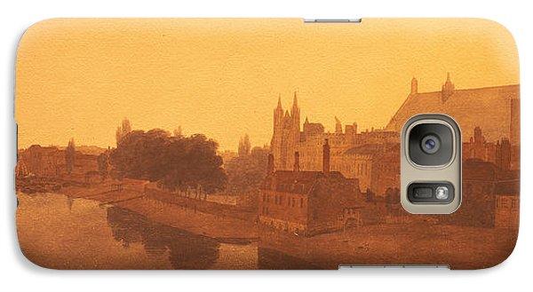 Westminster Abbey Galaxy S7 Case - Westminster Abbey  by Peter de Wint