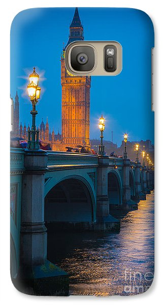 Westminster Bridge At Night Galaxy S7 Case by Inge Johnsson