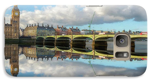 Galaxy Case featuring the photograph Westminster Bridge London by Adrian Evans