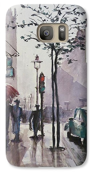 Galaxy Case featuring the painting Wet Afternoon by Geni Gorani