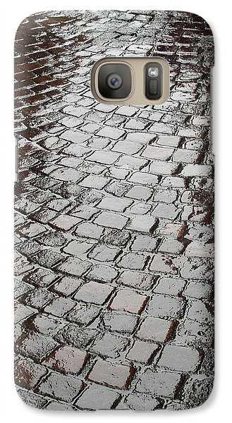 Galaxy Case featuring the photograph Wet Lucca Street by Michael Flood