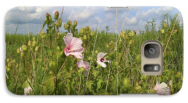 Galaxy Case featuring the photograph Wet Prairie by Scott Kingery