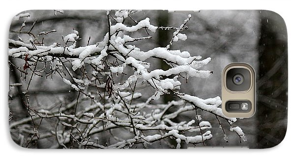 Galaxy Case featuring the photograph Wet Snow by Greg Simmons