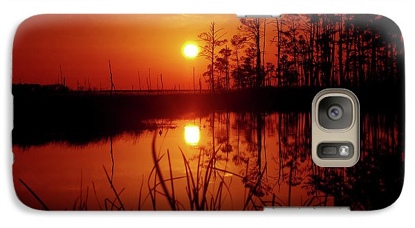 Galaxy Case featuring the photograph Wetland Sunset by Robert Geary