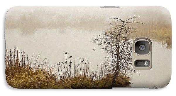 Galaxy Case featuring the painting Wetland Wonders Of Winter by Jordan Blackstone