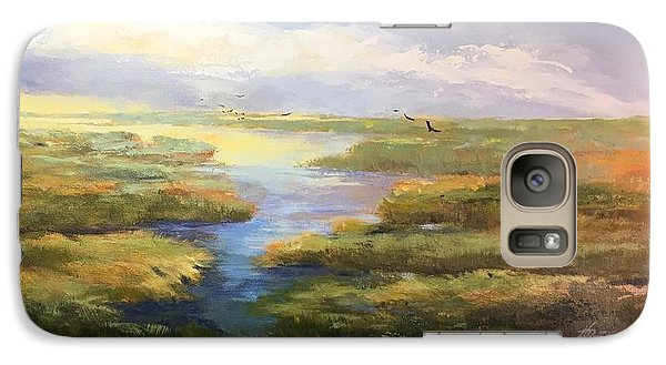 Galaxy Case featuring the painting Wetlands by Helen Harris